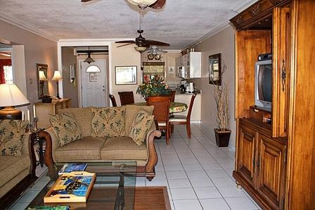 Living Room - One Step to Beach - #01 Harbour Heights 7MB - Seven Mile Beach - rentals