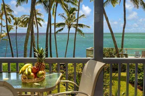 lanai - Free Car* with Poipu Palms 102 - Exquisitely decorated oceanfront 2 bedroom/2 bath condo in a small complex - Poipu - rentals