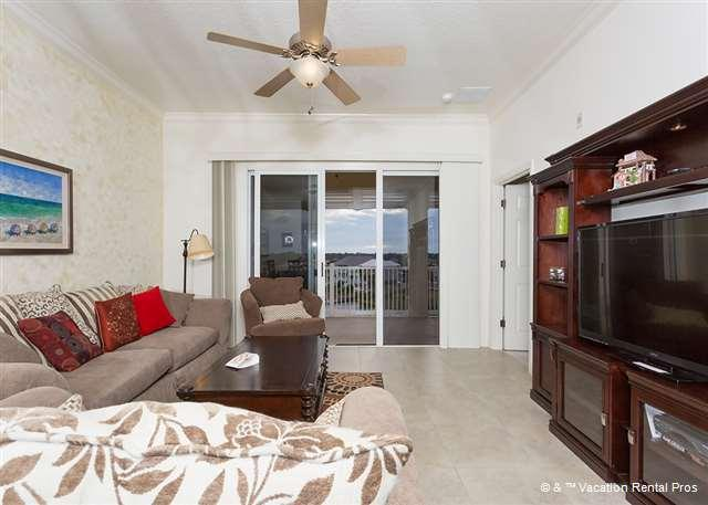 """View of our modern and sunny living room - 1053 Cinnamon Beach 3 Bedroom Suite, 55"""" smart HDTV - Palm Coast - rentals"""