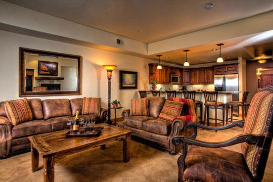 Emerald Lodge Living Room - 5106 - 5106 Emerald Lodge, Trappeurs - Steamboat Springs - rentals