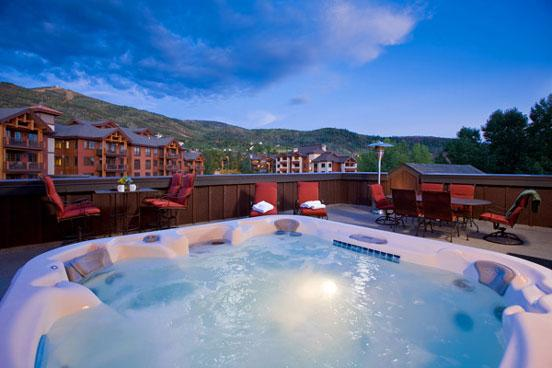 Private Patio - Bear Lodge 6304 - 6304 Bear Lodge, Trappeurs - Steamboat Springs - rentals