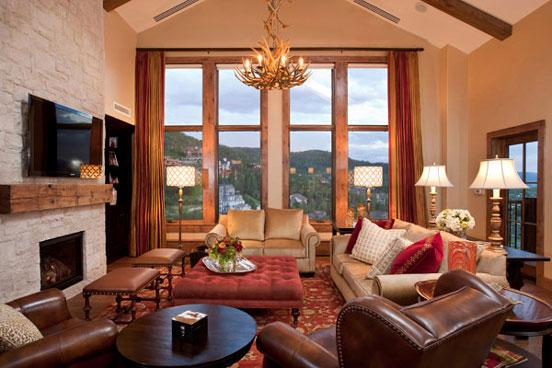 Edgemont Living room - 2802 Edgemont - Steamboat Springs - rentals