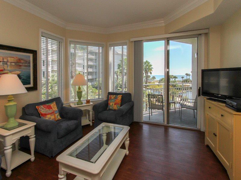 Living Room with Ocean Views at 1204 Sea Crest - 1204 Sea Crest - Hilton Head - rentals