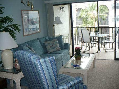 Living Room - Anglers Cove G404 - Marco Island - rentals