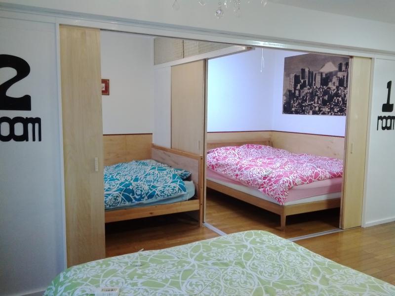 2 bedrooms and 3 beds--all double 210x140 - Shibuya-Nakameguro-2bedroom3 beds-wifi-LoveTokyo - Tokyo - rentals