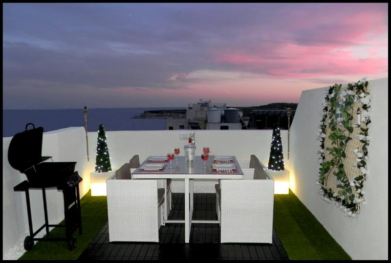 Outside Verandah - Marsascala Luxury  2 Bedroom Penthouse 5 Min Away - Marsascala - rentals