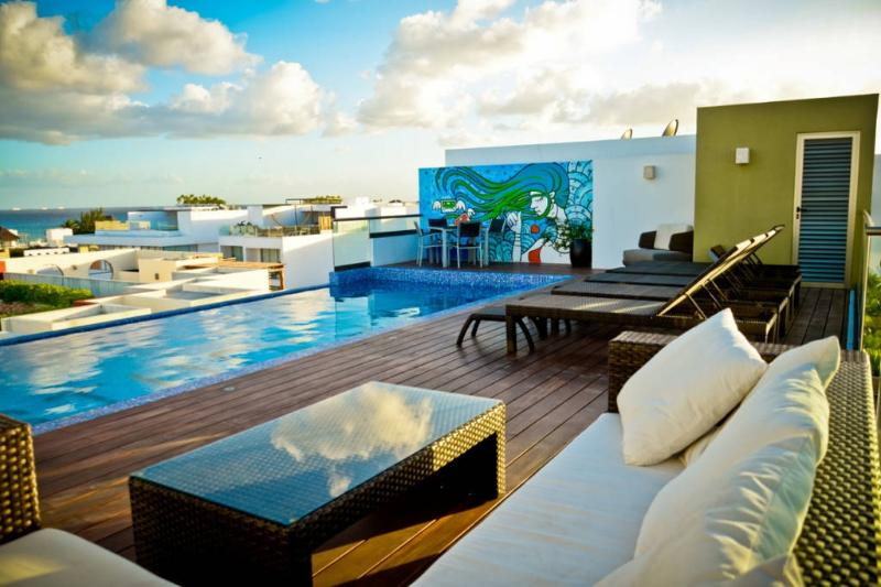 Flat with Great Terrace and Pool SO303 - Image 1 - Playa del Carmen - rentals