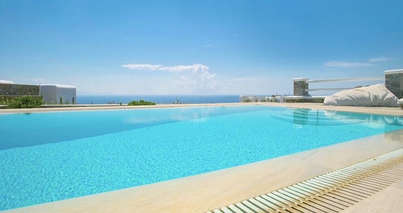 View from pool - Villa with amazing sea view- private swimming pool - Mykonos - rentals