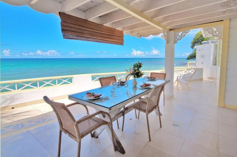 dining on the deck.jpg - Sunset Reach - Barbados - rentals
