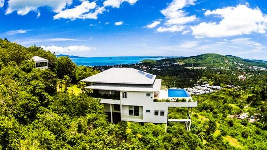 Panoramic sea-views overlooking Bophut & Chaweng areas - Baan Kuno: Infinity pool with stunning sea-views - Koh Samui - rentals