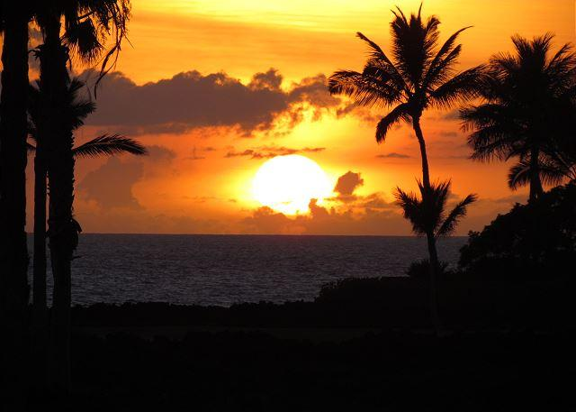 Sunset from lanai - FALL SPECIAL 5TH NIGHT FREE-Luxury property with beautiful ocean views! - Puako - rentals
