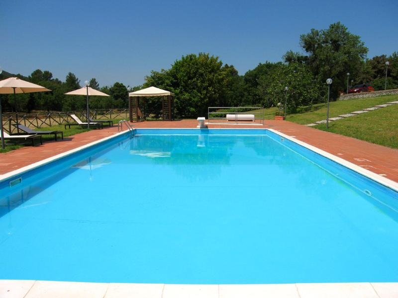 Villa Vallocchia : Large pool with diving board + sound system - Villa Vallocchia + optional Lodge - 3 mls/Spoleto - Spoleto - rentals