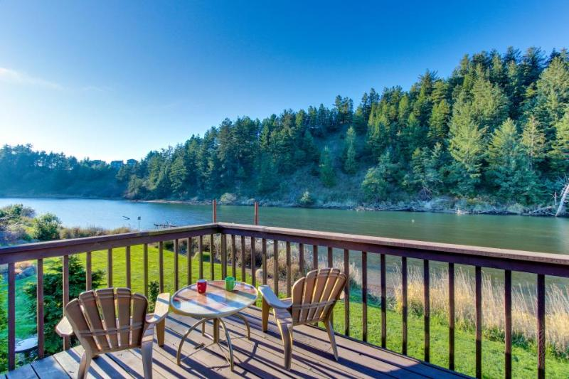 Riverside cabin with backyard firepit & kayak launch! - Image 1 - Pacific City - rentals