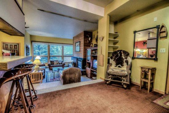 Large and Open Living Area, Kitchen and Dining Area With Gas Fireplace, Flat Screen TV and Over-sized Windows - Kutuk 210 - Steamboat Springs - rentals