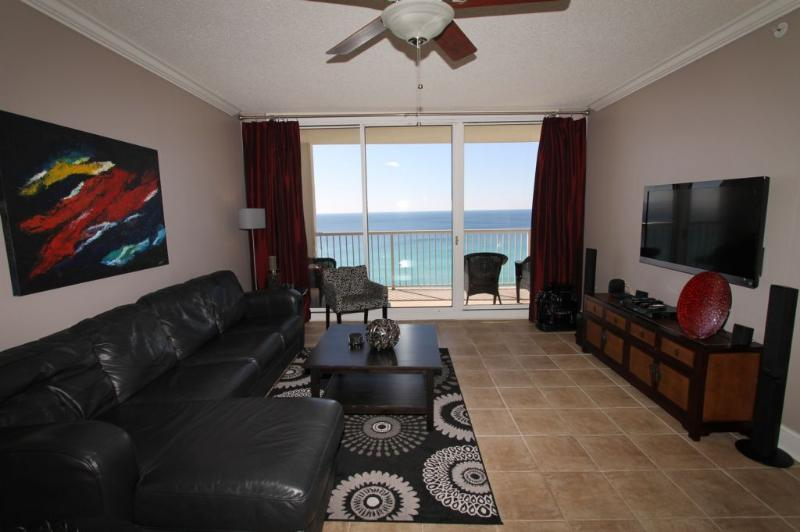 Beautifully Appointed Living Area with Fabulous Gulf View - Majestic Beach Resort  T1 Unit 1302 - Panama City Beach - rentals