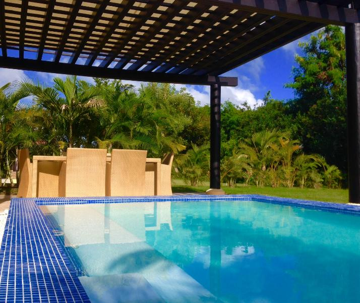 your private mini pool, with pergolada dining table - Green Village, your retreat at Cap Cana! - Punta Cana - rentals