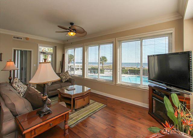 Main Living ARea - 3101 SeaCrest- Direct Oceanfront. FULLY RENOVATED & more! - Hilton Head - rentals