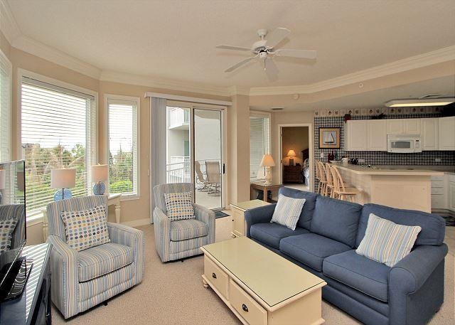 Living Area - 2215 SeaCrest - 2nd floor villa. - Hilton Head - rentals