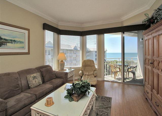 Main Living Area - 1502 SeaCrest -  5th Floor, beautiful views.. Steps to beach & Coligny Plaza - Hilton Head - rentals