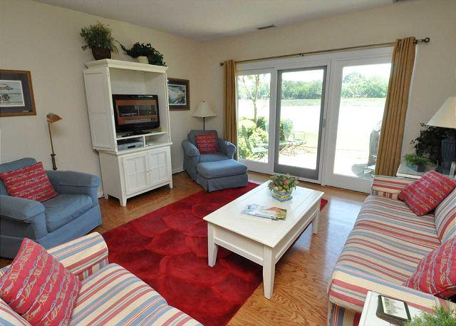 Main Living Area - 1624 Port Villa - 4 Bedrooms with Beautiful Braddock Cove Views - Hilton Head - rentals