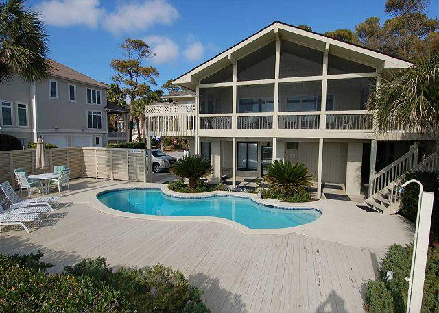 Exterior - 13 Dune Lane - Oceanfront with Large Screened Porch/4Bedroom - Hilton Head - rentals