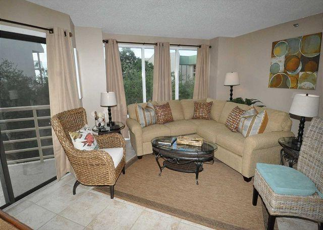 Living Area - 2419 Villamare - BEAUTIFUL 4th floor Villa - $200 OFF Sept/Oct weeks - Hilton Head - rentals