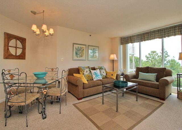 Main Living Area - 3427 Villamare-Oceanview- Loads of Amenities, 4th floor and so much more. - Hilton Head - rentals