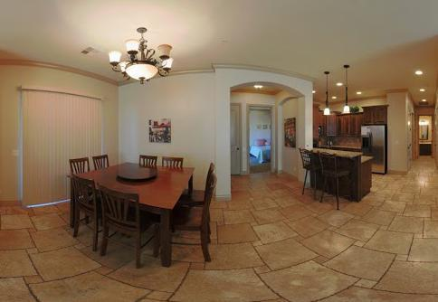 Spacious Dining and Kitchen Area Equipped with Everything! - # B13 Coral Springs Resort - Hurricane - rentals