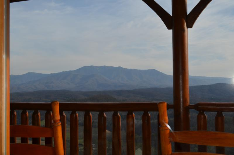 View from the Dining Room table - Luxury Vacation Cabin-Dramatic SmokyMountain View! - Pigeon Forge - rentals