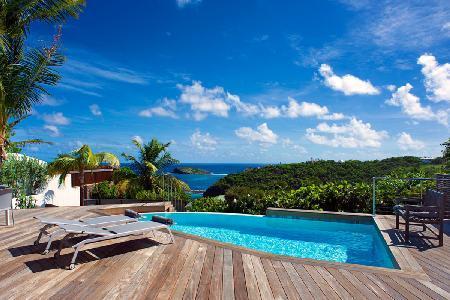 Romantic Bonbonniere villa, fully air conditioned, island views & daily maid - Image 1 - Pointe Milou - rentals