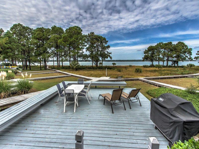 Private Deck at 15 Lands End Road - 15 Lands End Road - Sea Pines - rentals