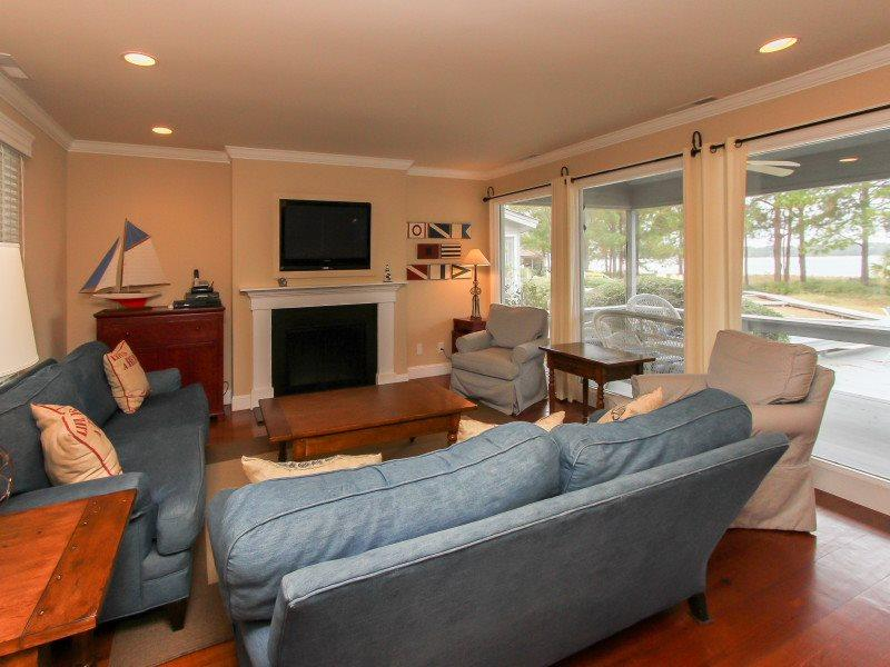 Living Room at 15 Lands End Road - 15 Lands End Road - Sea Pines - rentals