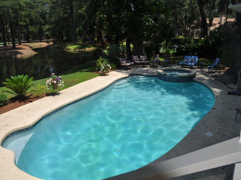 Pool and Lagoon at 66 Heritage Road - 66 Heritage Road - Sea Pines - rentals