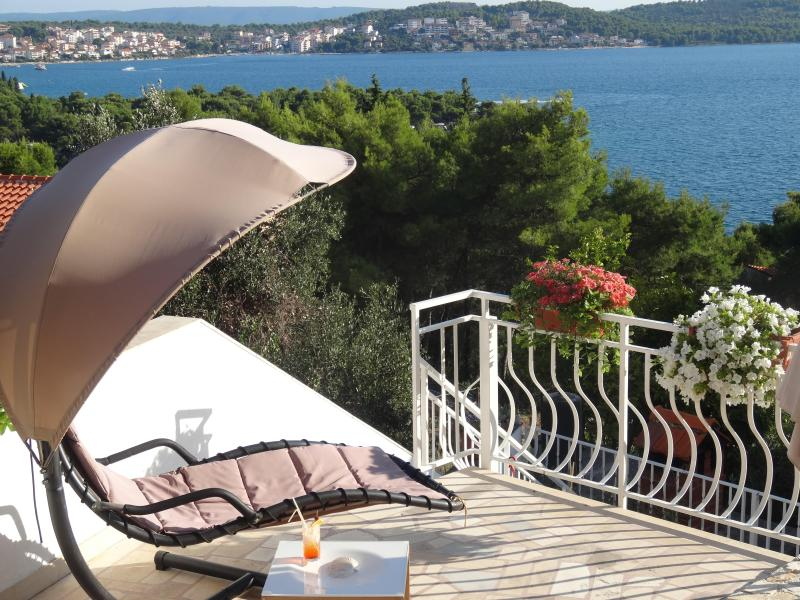 Apartment 1, private terrace with sea view - Big private terrace with grate seaview! Trogir  A1 - Trogir - rentals