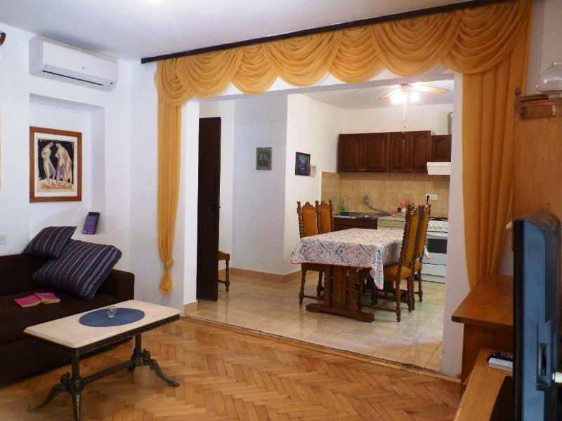 living room and kitchen with dining area - Apartment near sea, balcony sea view, terrace 4+3 - Jelsa - rentals