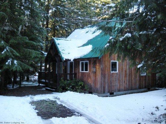 Front view of cabin 32 - Mt. Baker Rim Cabin #32 - A cute, private, 2-story cabin! - Glacier - rentals