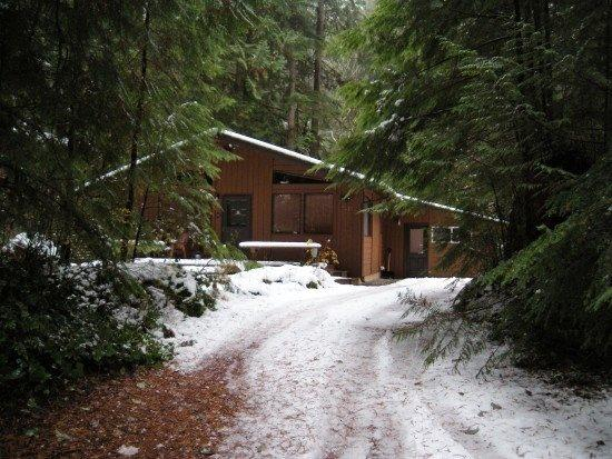 The front of Cabin 23 - Snowline Cabin #23 - Great cabin with hot tub, game room, and sauna! Pet friendly, too! - Glacier - rentals