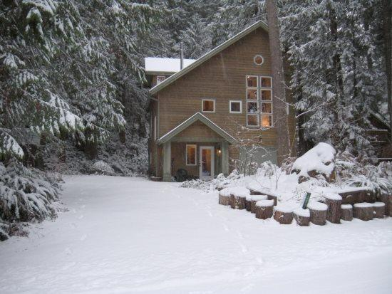 The front of Cabin 51 - Snowline Cabin #51 - Executive style cabin that sleeps 8! - Glacier - rentals