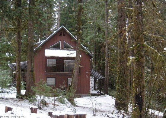 The front of Cabin 74 - Snowline Cabin #74 - A new, elegant home with a private hot tub! - Glacier - rentals