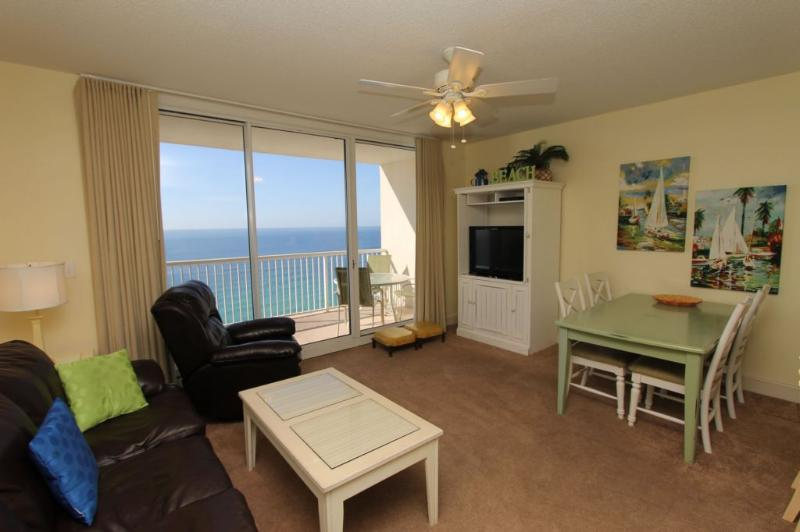 Beachy Living Area with Indescribable Gulf View - Majestic Beach Resort T1 Unit 2211 - Panama City Beach - rentals