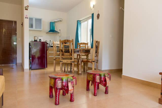Spacious Living cum dining room with attached kitchenette - perfect holiday apartment - Surya Suites at Heritage Exotica - Arpora - rentals