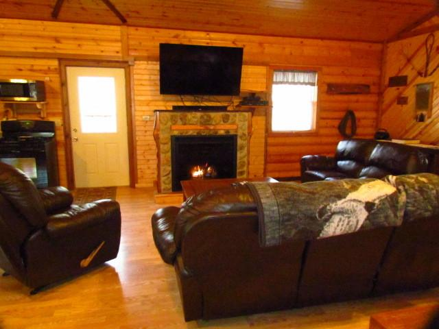 Beautiful gas fireplace built by us on site - Kishauwau Cabins near Starved Rock Utica IL Grand - Utica - rentals