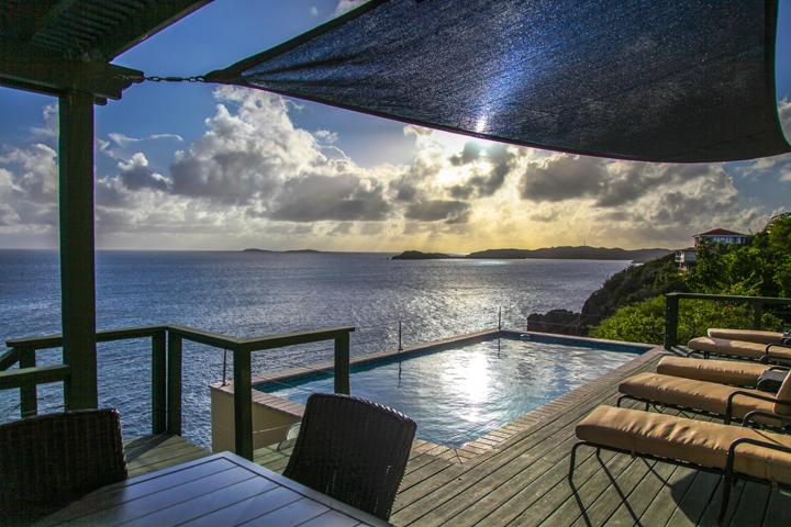 Relax, sit on the deck and watch nature take its course. - Villa Mirino, Ocean front, Intimate East End Home - Saint Thomas - rentals