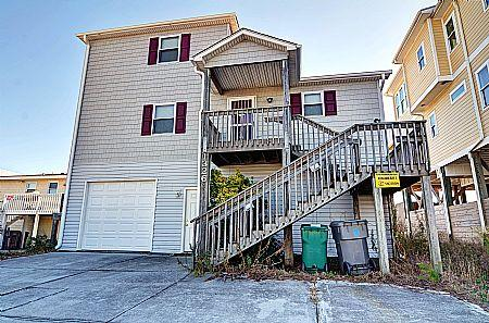 Street Side Exterior - Doyle's Solitude - Formerly Hoffman Cottage,1326 S Shore Dr, Surf City, NC - Surf City - rentals