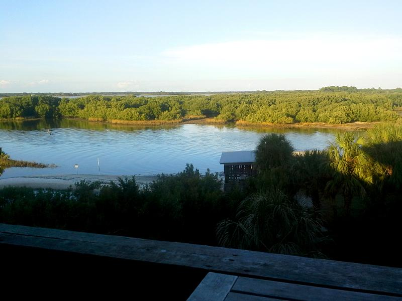 View from Serenity's balcony in December 2014. - Serenity: Family Friendly!  View! Walk to Dock St. - Cedar Key - rentals