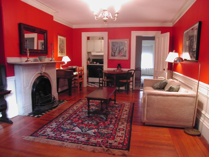 Living Room toward Kitchen and Bedroom - SPECIAL Rate on South End Suite (M365-1) - Boston - rentals