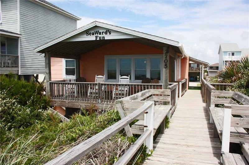 SeaWard's Fun  2705 W Beach Dr - Image 1 - Oak Island - rentals