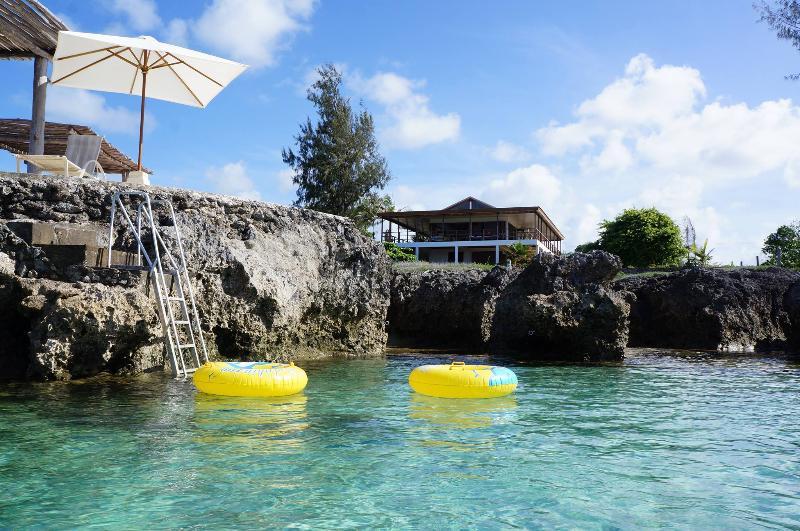 Main House View from Rockpool - Magical Ocean front Villa 'Senang Masari' - Port Vila - rentals