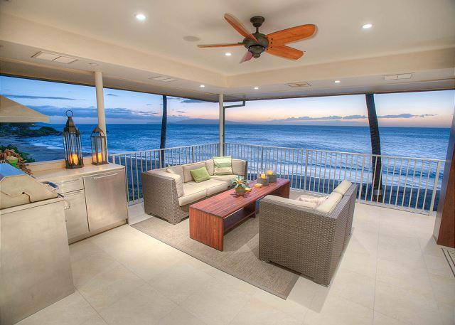 Lanai - Beachfront 4 bed 4 bath Penthouse with a Stunning Panoramic Ocean View - Kihei - rentals