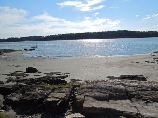 View from one of the shared beaches.  There are seven beaches to access through your stay here  - BLACKBERRY COVE COTTAGE | INDIAN POINT | GEORGETOWN |PRIVATE BEACH FRONT | SHALLOW WATER | A-FRAME HOME | INCREDIBLE VIEWS & LOCATION - Georgetown - rentals